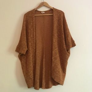 Rust colored slouchy layering sweater